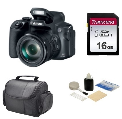 PowerShot SX70 HS Digital Camera - Black - 16GB Mem Card, Carrying Case & Cleaning Kit - Value Kit *FREE SHIPPING*