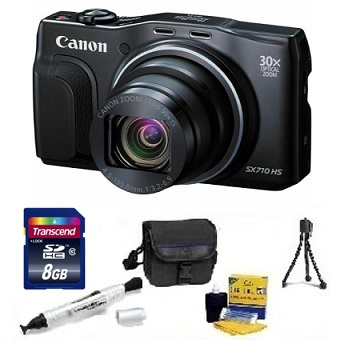 PowerShot SX 710 HS Digital Camera - Black - 8GB Memory Card, Lens Cleaning Kit, Camera Case, Pen LCD Screen Cleaner, Table-Top Tripod - Essential Kit *FREE SHIPPING*