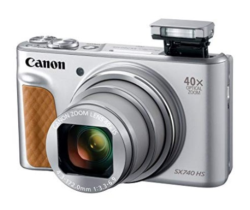 PowerShot SX740 HS 20 Megapixel, 40x IS Lens, 3.0 In Tiltable LCD Screen, Full HD Video Digital Camera - Silver *FREE SHIPPING*