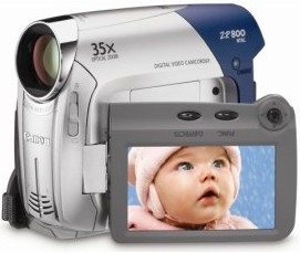 Zr-800 35x Optical/1000x Digital Zoom, 2.7 Inch Lcd, Widescreen Hr Recording, Image Stabelized Mini Dv Camcorder