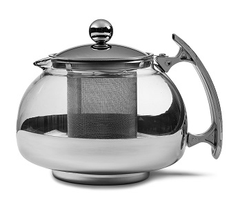 Premium Glass Tea Pot & Infuser - Stainless Steel & Heat Resistant Glass (Pyrex) *FREE SHIPPING*