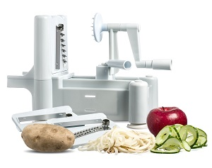 Tri-Blade Plastic Spiral Vegetable Slicer and spiralizer
