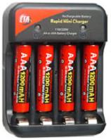 AAA Nimh (1200mah) Rechargeable Batteries With 4 Hour Charger