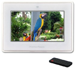 Mi-Pf7c 7 Inch Digital Picture Frame With Wireless Remote - Clear