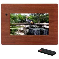 Mi-Pf7w 7 Inch Digital Picture Frame With Wireless Remote - Wood Color