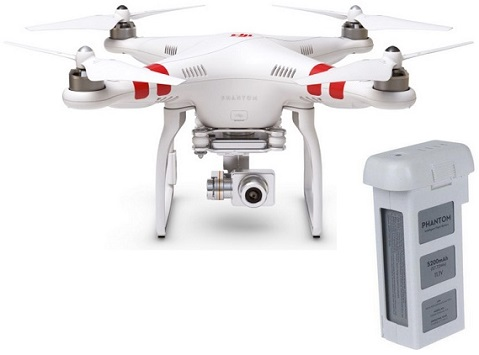 Phantom 2 Vision+ Version 3.0 Quadcopter Drone Flying 14.0 Megapixel Camera w/Additional Battery Pack Kit *FREE SHIPPING*