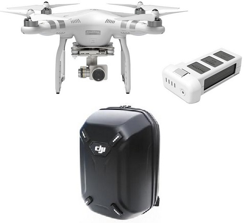 Phantom 3 Advanced Ready to Fly Quadcopter with extra battery & hardshell backpack bundle *FREE SHIPPING*