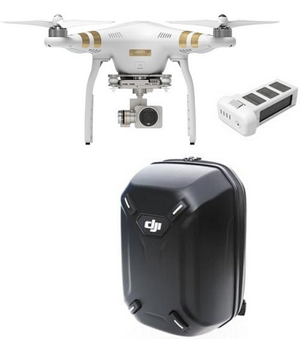 Phantom 3 Professtional Ready to Fly Quadcopter with integrated 4k camera with Extra Battery & Hardshell Backpack Bundle *FREE SHIPPING*