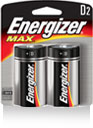 E95BP-2 Max D Alkaline Battery 2 Pack