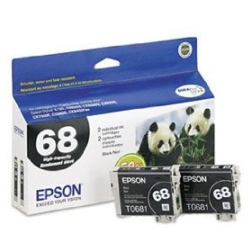 68 Black Dual Pack High-Capacity Ink