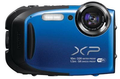 Finepix XP70 16.4 Megapixel, 5x Optical Zoom, 2.7 Inch LCD Screen, Full HD Video, Waterproof, Freezeproof, Dustproof & Shockproof Digital Camera - Blue - Factory Refurbished *FREE SHIPPING*