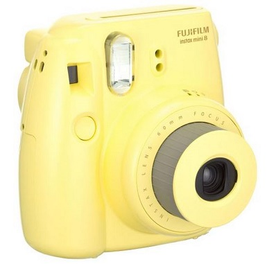 Instax Mini 8 Instant Film Camera - Yellow *FREE SHIPPING*