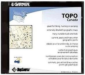 Mapsource Topo Canada, Topographic Mapsource