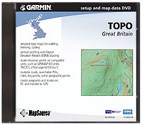 Mapsource Topo Great Britain, Topographic Mapsource