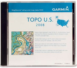 Mapsource Topo U.S. 2008 Dvd, Topographic Mapsource *FREE SHIPPING*
