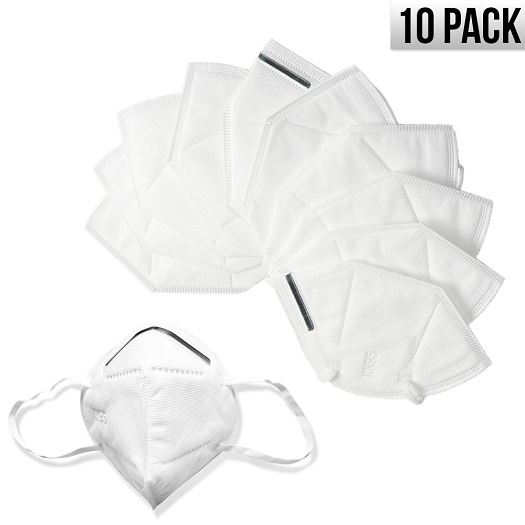 KN95 Disposable Face Mask Protective Respirator Covers Mouth & Nose (10 Pack) *FREE SHIPPING*