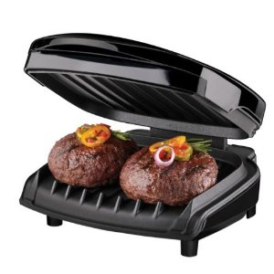GR12B Nonstick Countertop Grill - Black
