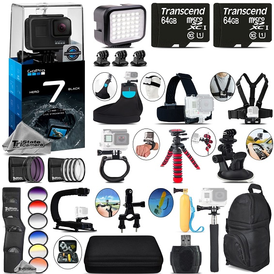 GoPro Hero7 Black 4K Camera + 13PC Filter Kit Set + Backpack -128GB Bundle Kit *FREE SHIPPING*