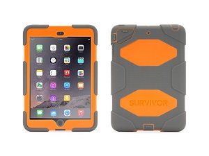 Grey/Orange Survivor All-Terrain Case for iPad mini, mini 2 & mini 3, Touch ID *FREE SHIPPING*