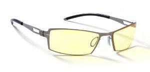 G0005-C011 SheaDog Full Rim Ergonomic Advanced Computer Glasses w/ Amber Lens Tint (Mercury Frame Finish)