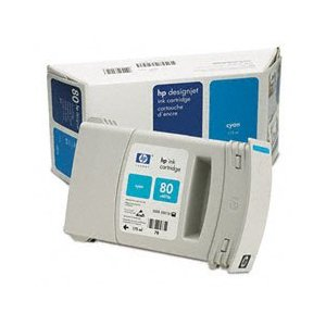 HP C4872A 80 Cyan Ink Cartridge