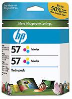 57 Twinpack Tri-Color Cartridge (Yield: 1,000 Pages)