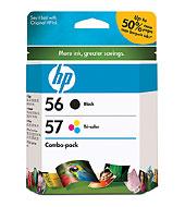 56/57 Combo-Pack Inkjet Print Cartridges