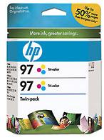 97 Twinpack Tri-Color Inkjet Print Cartridge With Vivera Inks (Yield: 1,120 Pages)