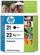 21/22 Inkjet Print Cartridge Combo Pack (Yield: 190 Pages)