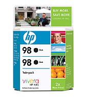 98 2-Pack Black Inkjet Print Cartridges (Yield: 840 Pages)