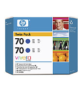 70 2-Pack 130-Ml Blue Ink Cartridges
