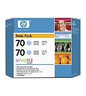 70 2-Pack 130-Ml Light Cyan Ink Cartridges