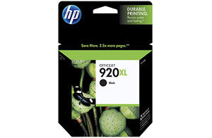 HP 920xl Black Officejet Ink Cartridge (Yield: 1,200 Pages)