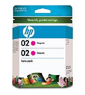 02 2-Pack Magenta Ink Cartridges