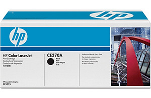 Color LaserJet CE270A Black Print Cartridge (yield: 13,000 pages)
