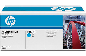 Color LaserJet CE270A Cyan Print Cartridge (yield: 13,000 pages)