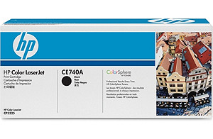 Color LaserJet CE740A Black Print Cartridge (yield: 7,000 pages)
