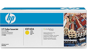 Color LaserJet CE741A Yellow Print Cartridge (yield: 7,300 pages)