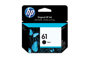 HP CH561WN 61 Black Ink Cartridge (Yield: 190 Pages)
