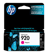 HP 920 Magenta Officejet Ink Cartridge (Yield: 300 Pages)