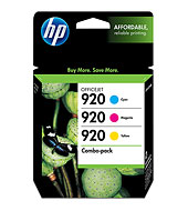 920 Combo-Pack Cyan/Magenta/Yellow Officejet Ink Cartridges (Yield: 300 Pages)