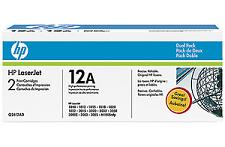 Q2612a  Black Print Cartridges Dual Pack