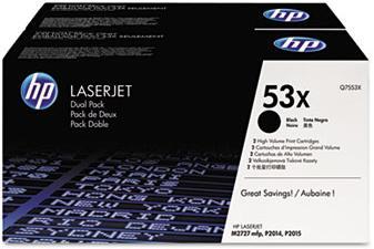 Q7553xd  Laser Cartridge,Black  DUAL PACK