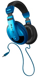 DynamicDJ Style Headphones with powerful sound for Cell Phones Blue *FREE SHIPPING*