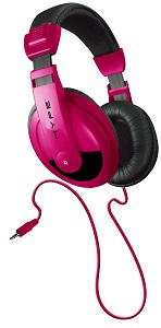 DynamicDJ Style Headphones with powerful sound, for Cell Phones Pink *FREE SHIPPING*