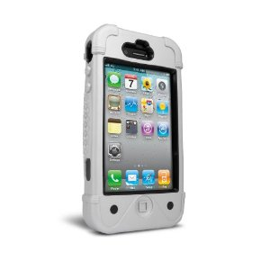 IP4BFSLVB BullFrogz Case for iPhone 4 (Silver/ Black)