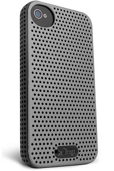 IP4BRZ-GRY/BLK Breeze iPhone 4S Case (Gray/ Black)