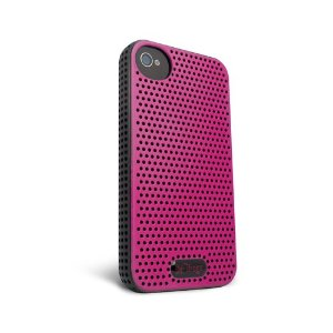 IP4BRZ - PNK/BLK Breeze iPhone 4S Case (Pink/Black)
