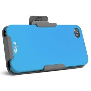 IP4CS-BLUM iPhone 4 & 4S ClipStand Case (Blue)