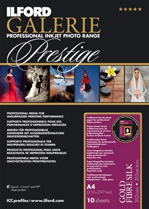 GPGFS13 GALERIE Prestige Gold Fibre Photo Paper - 13x19 10 Sheets *FREE SHIPPING*